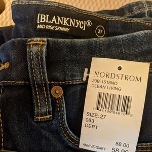 Blank NYC Mid Rise Skinny Jeans sz 27